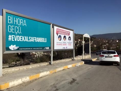 """Safranbolu Belediyesinden yöresel dille """"Evde kal"""" çağrısı"""