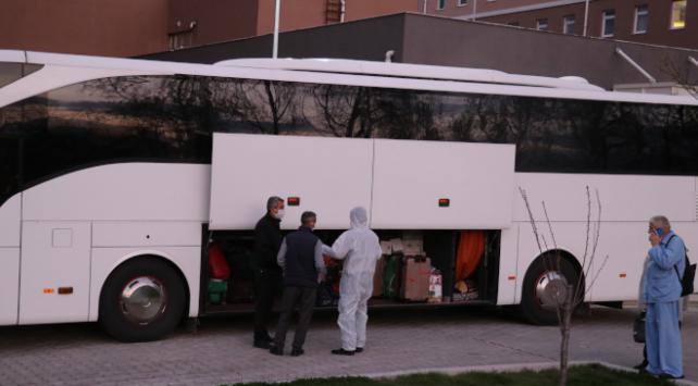 Karantinaları biten 39 umreci memleketlerine gönderildi