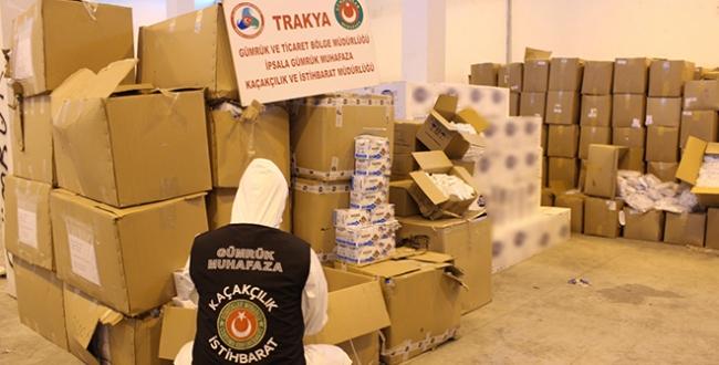 İstanbul ve İpsalada 1 milyon 200 bin liralık tıbbı malzeme ele geçti