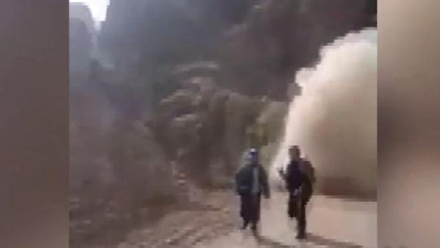 İran'da tünel inşaatında korkutan olay