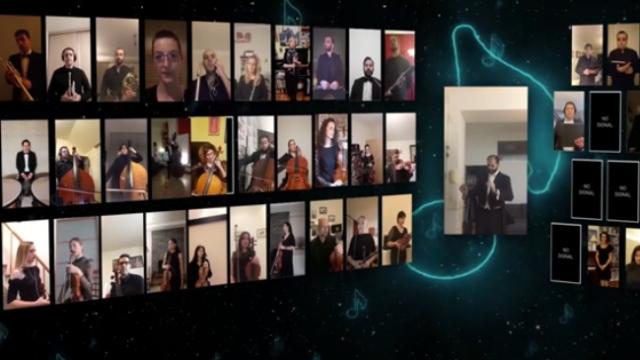 4 ülkenin sanatçıları internetten konser için bir aradaydı