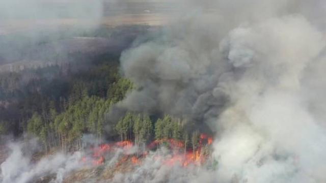 Ukrayna'daki yangın Çernobil'deki nükleer santrale yaklaştı