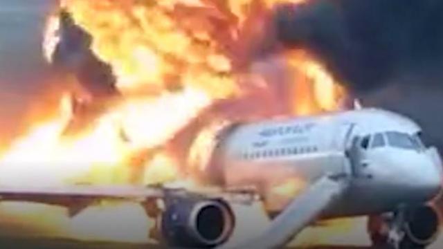 Rusya'daki uçak kazasının yeni görüntüleri yayınlandı