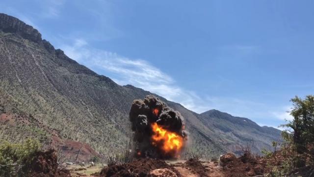 Siirt'te terör örgütünün araziye tuzakladığı patlayıcı imha edildi