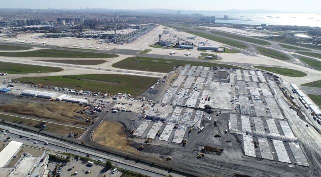 Atatürk Havalimanındaki hastane inşaatında bina yapımı başladı