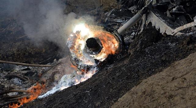 Kazakistanda savaş uçağı düştü