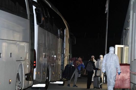 Londradan getirilen 262 Türk vatandaşı Çankırıda yurda yerleştirildi