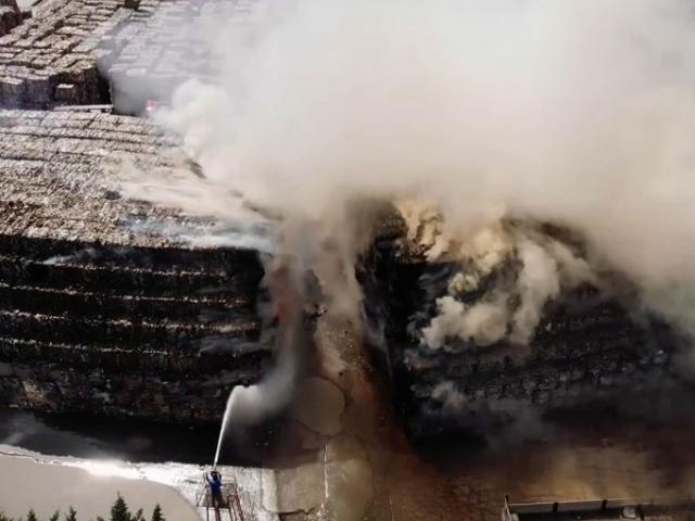 Küçükçekmecede katı atık fabrikasında yangın