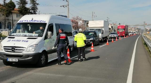 İstanbul-Tekirdağ Karayolunda araç yoğunluğu yaşandı