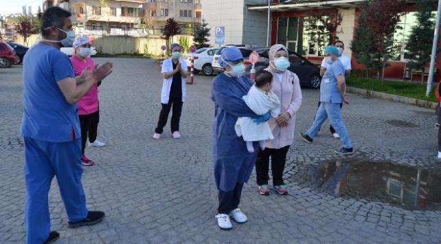Orduda 7 aylık bebek koronavirüsü yendi