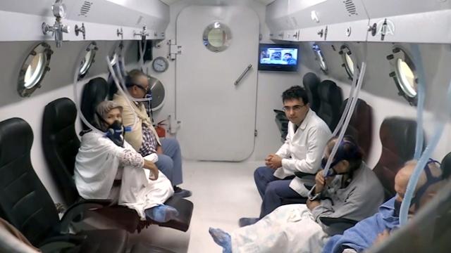 Koronavirüs hastalarına yüksek akımlı oksijen tedavisi