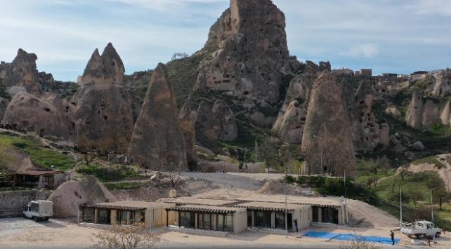 TOKİden Kapadokyanın doğal yapısına uygun dükkan inşası