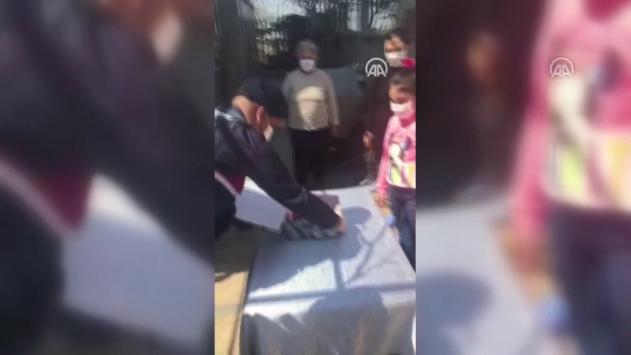 Jandarmadan, küçük Ceren Naza doğum günü sürprizi