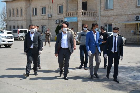 Silopide sürücülere maske dağıtıldı