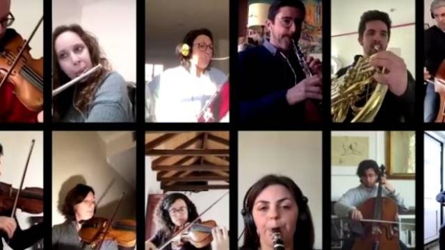 Portekizli orkestra iptal edilen konserini internette verdi