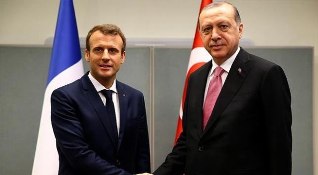 Cumhurbaşkanı Erdoğan Macron ile görüştü