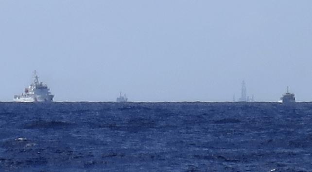 Doğu Çin Denizinde devriye gezen Çine tepki