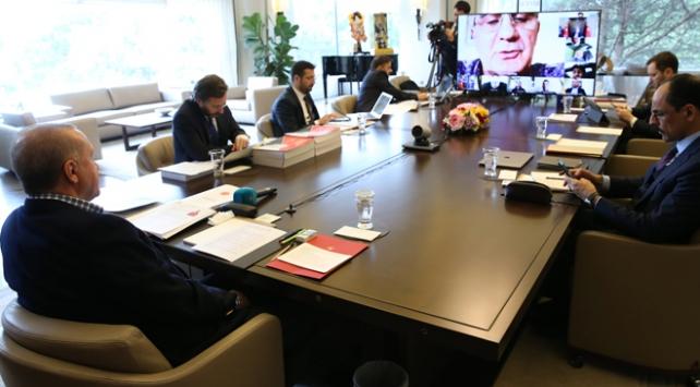 Cumhurbaşkanı Erdoğan A Milli Takım oyuncularıyla görüştü