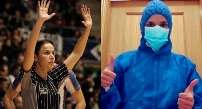 FIBA hakemi koronavirüse karşı hastanede çalışıyor