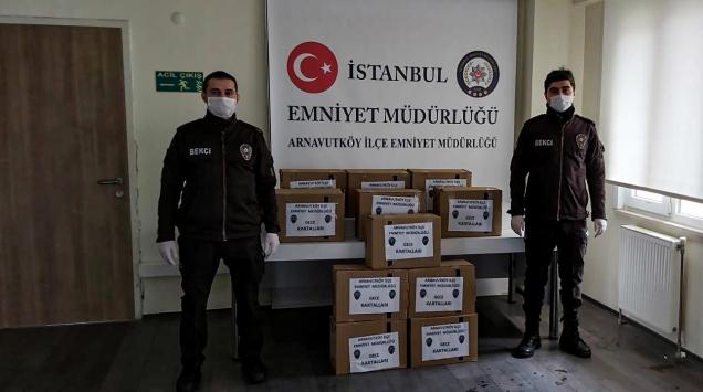 """Gece bekçileri, """"23 Nisan"""" anısına hazırladıkları 100 yardım kolisini ihtiyaç sahiplerine ulaştırıldı"""