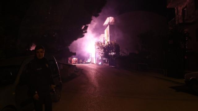 Burdur'daki yangın paniğe neden oldu