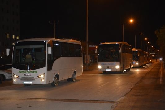 İtalyadan getirilen 194 Türk vatandaşı Karamanda yurda yerleştirildi