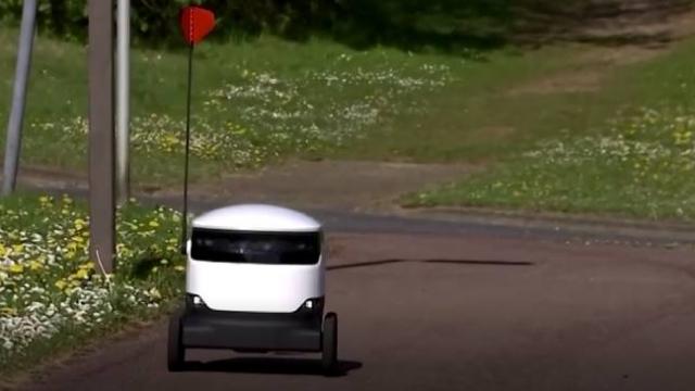 İngiltere'de siparişler evlere robotlarla teslim ediliyor