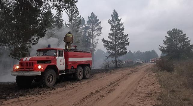 Kazakistandaki orman yangını söndürüldü