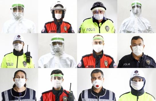 Polisten koronavirüsle mücadeleye büyük katkı