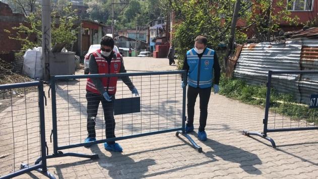 Zonguldakta 3 ev koronavirüs nedeniyle karantinaya alındı