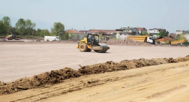 Kocaelideki sahra hastanesi inşaatında çalışmalar sürüyor