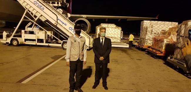 Türkiyeden Pakistana tıbbi malzeme götüren ikinci uçak ülkeye indi