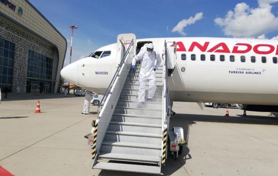 Mardin Havalimanında dezenfeksiyon çalışması yapıldı