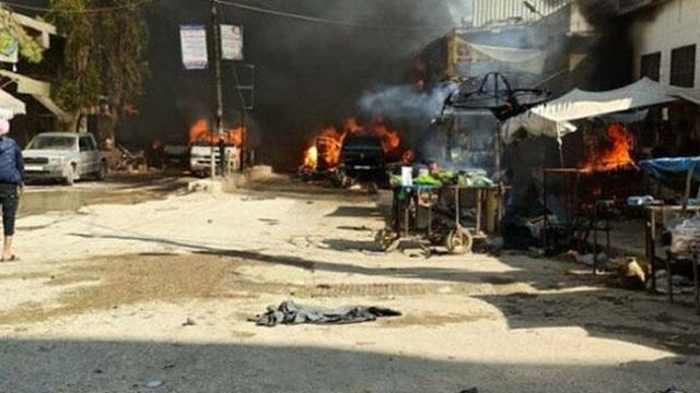 Afrin'de bombalı terör saldırısı: 40 ölü