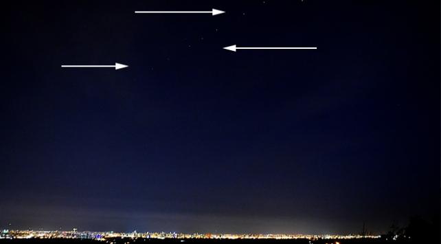 Starlink uydularının geçişi Mersinden göründü