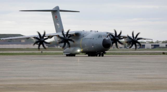 ABDye yardımları teslim eden uçak yurda dönüyor