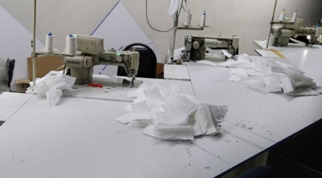 İstanbulda kaçak üretilen 20 bin maskeye el konuldu