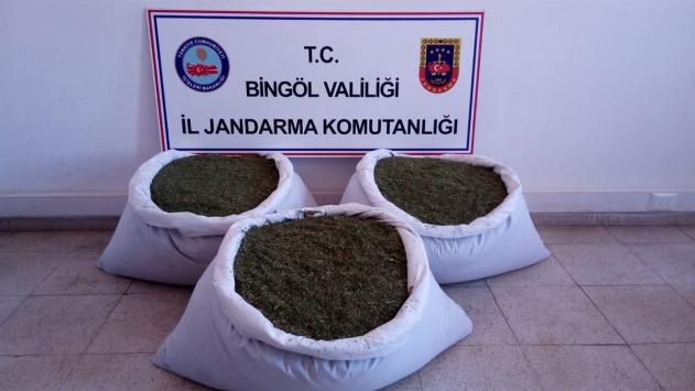 Bingölde PKKlı teröristlere ait 102 kilogram esrar ile mühimmat bulundu