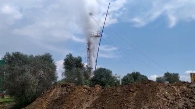 Aydın'da jeotermal kuyuda patlama
