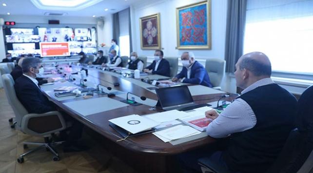 Bakan Soylunun başkanlığında güvenlik toplantısı yapıldı