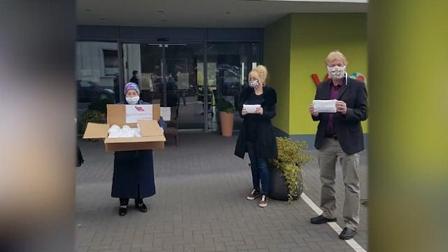 Almanya'daki huzurevinden YTB'nin maske desteğine teşekkür