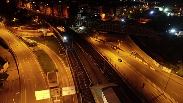İlk yurt içi yük treni Marmaray'dan geçti
