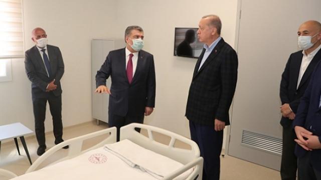 Cumhurbaşkanı Erdoğan'dan hastane inşaatlarında inceleme