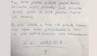 Karantina yurtlarında kalanlardan teşekkür mektupları