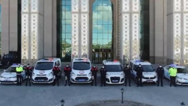 Erzurum polisinden 'Hele dadaş evde kal' türküsü