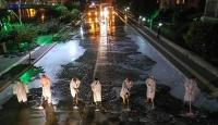 Amasya'da cadde ve sokaklar her gece yıkanıyor