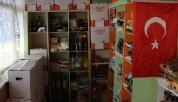 """Isparta'da caminin bir bölümü ihtiyaç sahipleri için """"hayır marketi"""" oldu"""