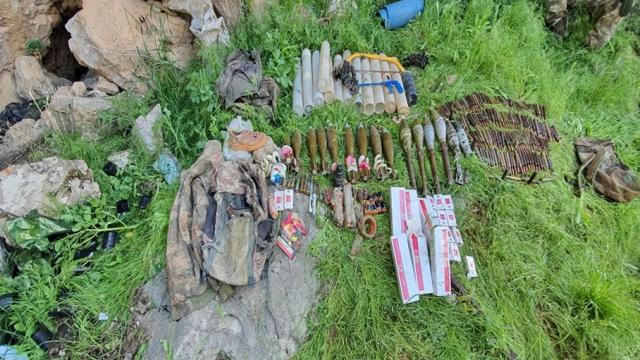 Terör örgütüne ait patlayıcı ve mühimmatlar imha edildi