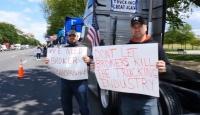 Kamyon sahipleri 12 gündür Beyaz Saray önünde eylemde