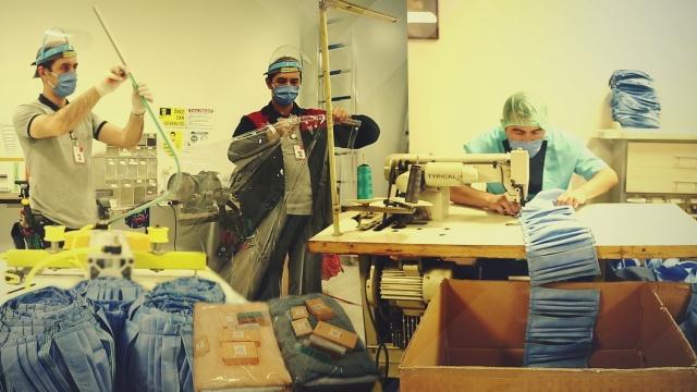 Hijyen malzemeleri hastane atölyesinde üretiliyor